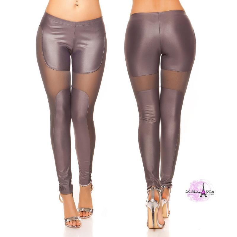 Leggings moda atractivos Liamoon gris