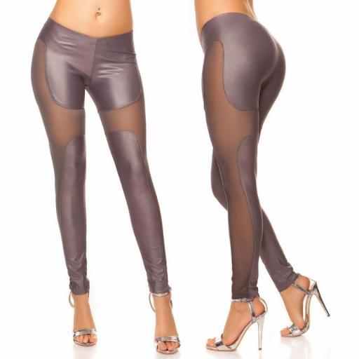 Leggings moda atractivos Liamoon gris [1]