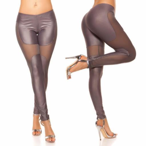 Leggings moda atractivos Liamoon gris [2]