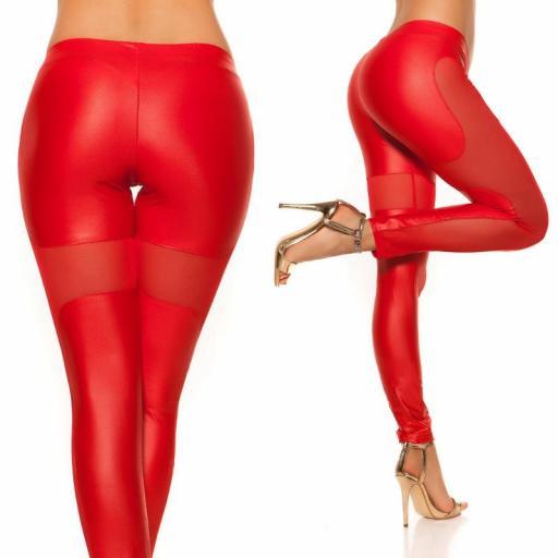 Leggings rojo atractivo Liamoon  [3]
