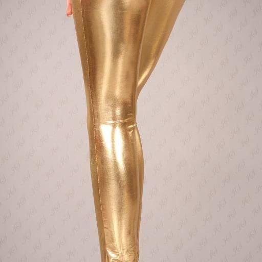 Leggings dorados muy ajustados [3]