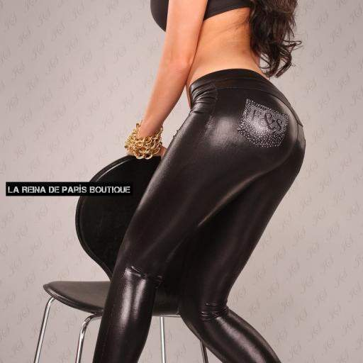 Leggings cuero sintético atractivos