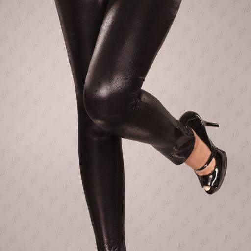 Leggings cuero sintético atractivos [2]