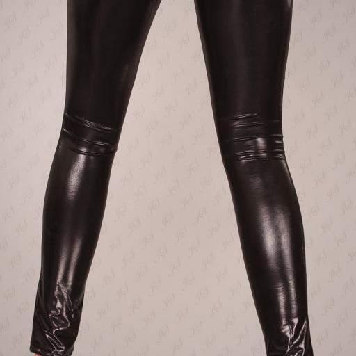 Leggings cuero sintético atractivos [3]