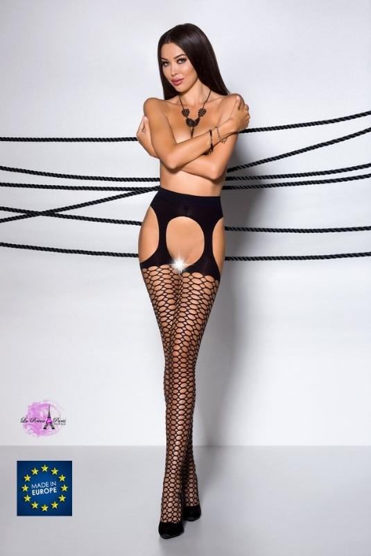 Medias línea sexy color negro