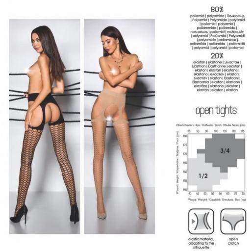 Medias línea sexy color negro [2]