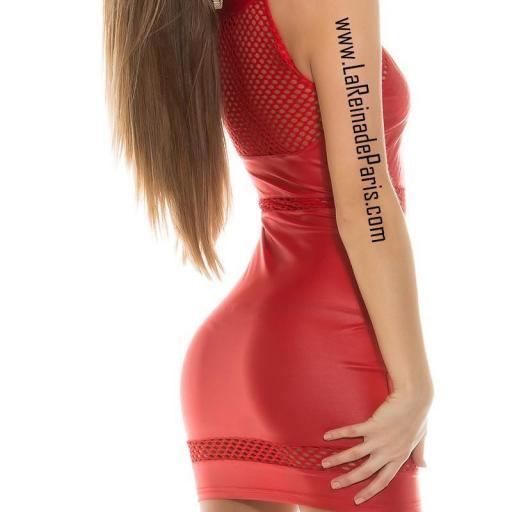 Vestido cuero rojo potencia tu estilo  [1]
