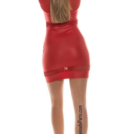 Vestido cuero rojo potencia tu estilo  [2]