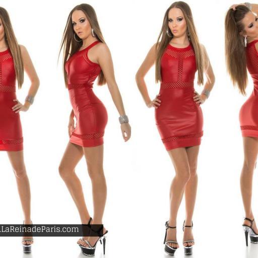 Vestido cuero rojo potencia tu estilo  [3]