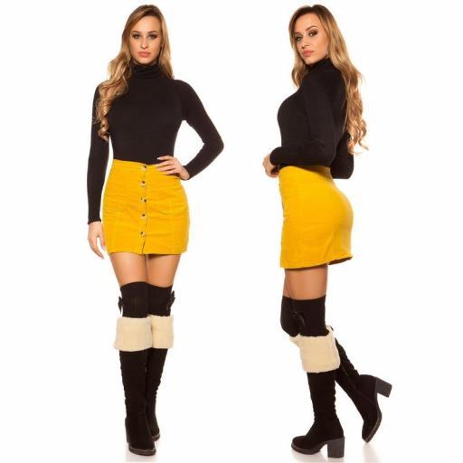 Mini falda de pana mostaza [1]