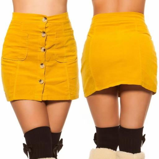Mini falda de pana mostaza [3]