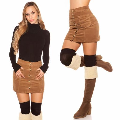 Mini falda de pana capuchino [1]
