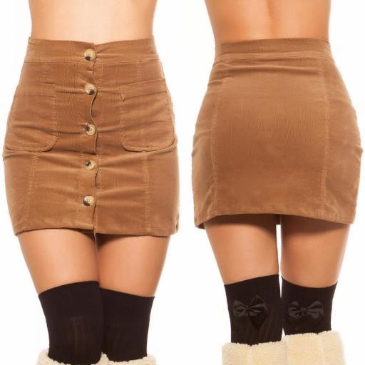 Mini falda de pana capuchino [3]