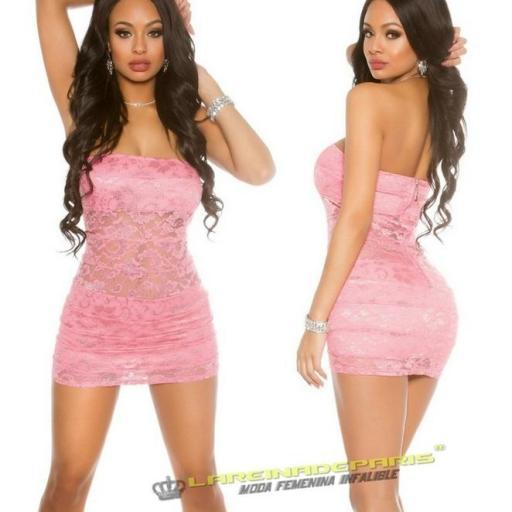 Mini vestido encaje pegadito al cuerpo  [1]