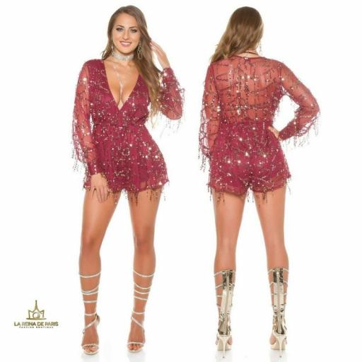 Playsuit party burgundy [1]