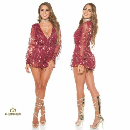 Playsuit party burgundy [2]