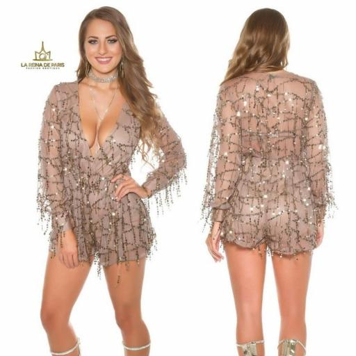 Playsuit party capuchino [0]