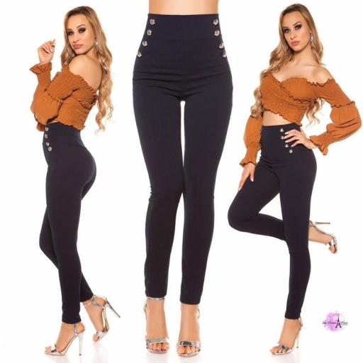 Pantalones de cintura alta AZM