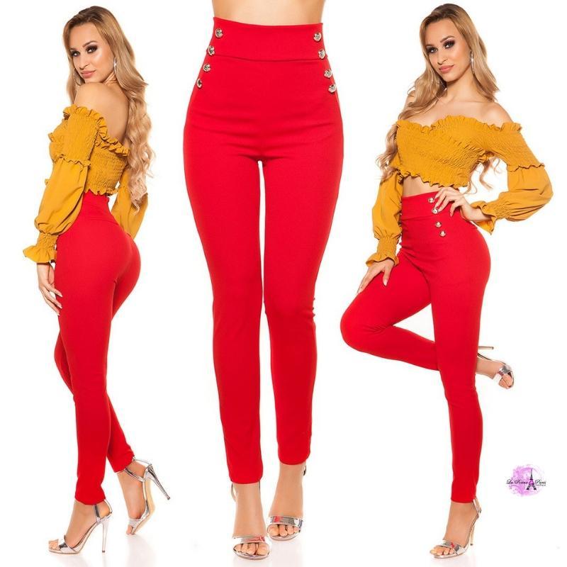Pantalones de cintura alta RJ