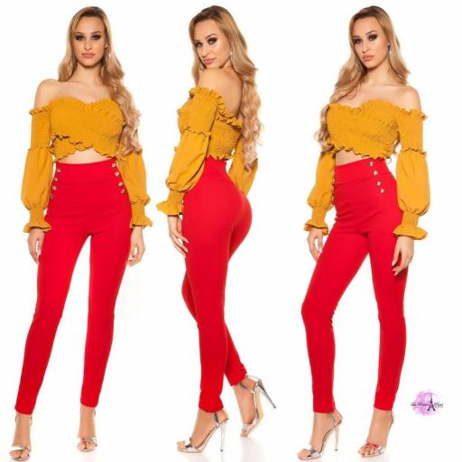 Pantalones de cintura alta RJ [1]