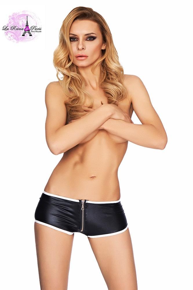 Pantalón corto ajustado cremallera