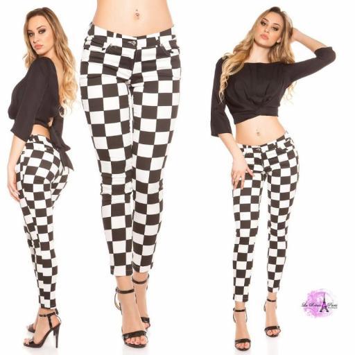 Pantalón ajustado Chess