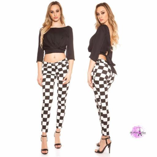 Pantalón ajustado Chess [3]