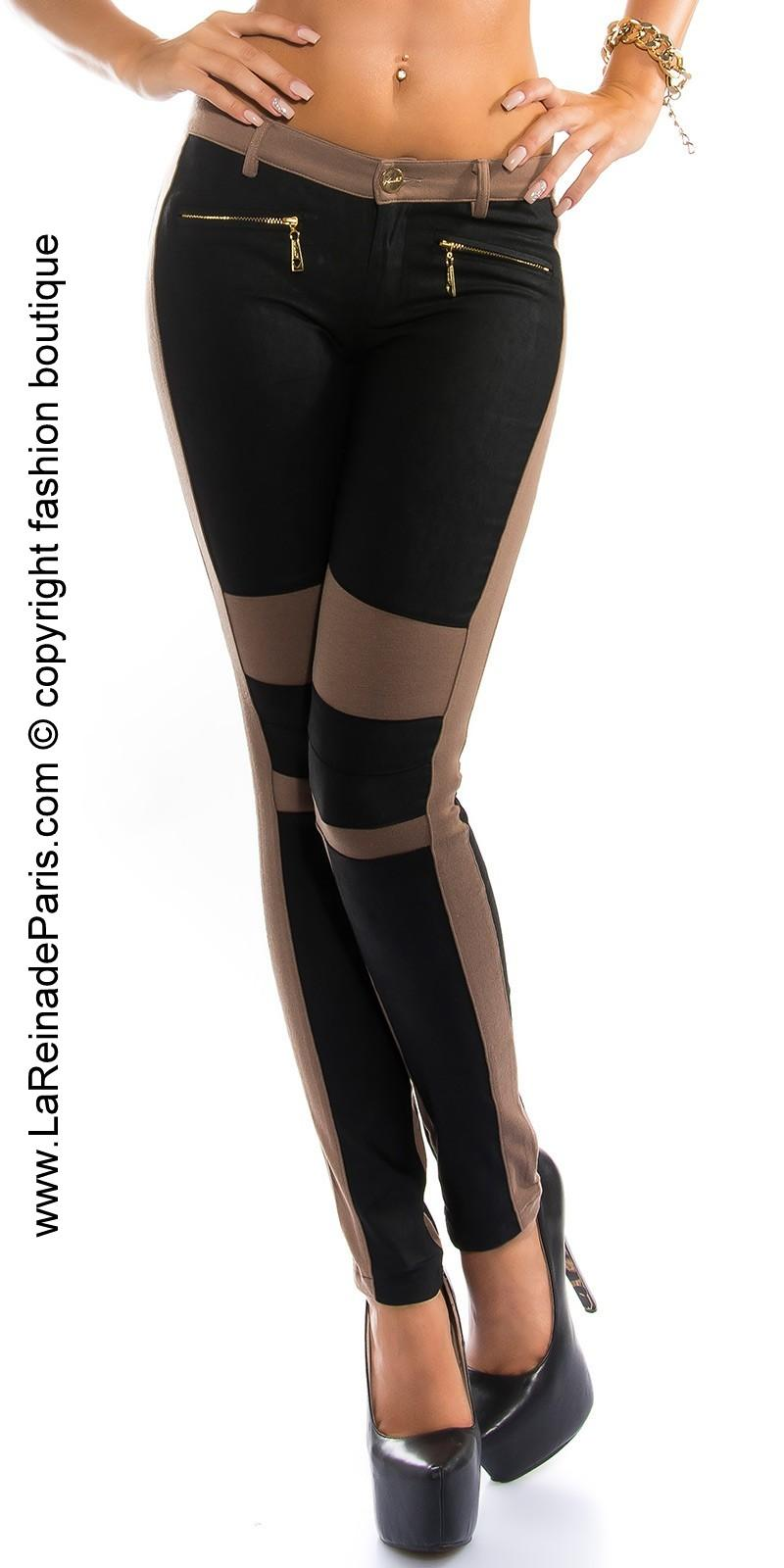 Pantalones de moda Niki capuchino