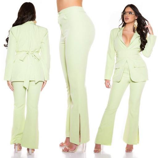 Pantalón bootcut verde