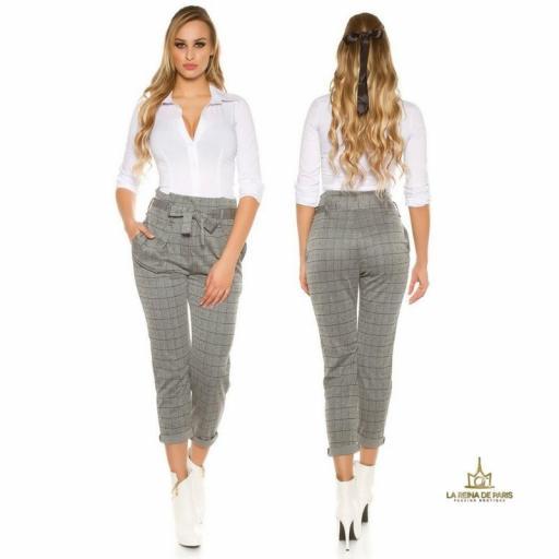 Pantalones de cintura alta tendencia