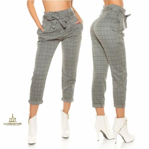 Pantalones de cintura alta tendencia [2]