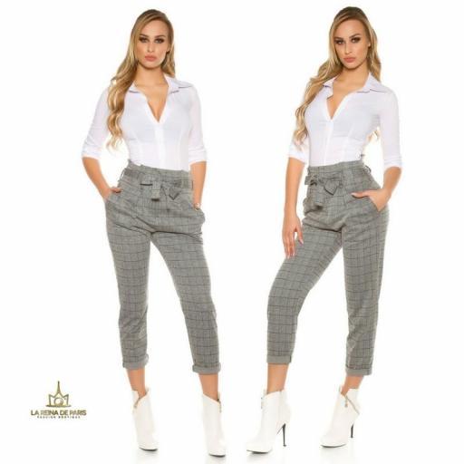 Pantalones de cintura alta tendencia [3]
