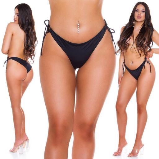 Bikini slip brasileño negro