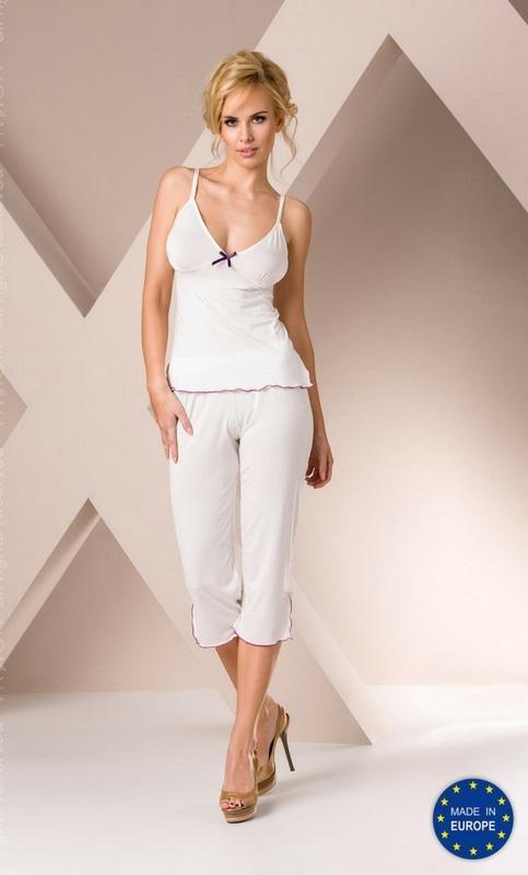 Conjunto pijama de mujer blanco crudo