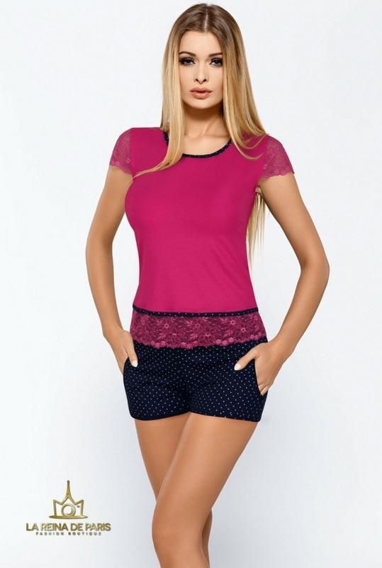 Pijama corto bicolor moda
