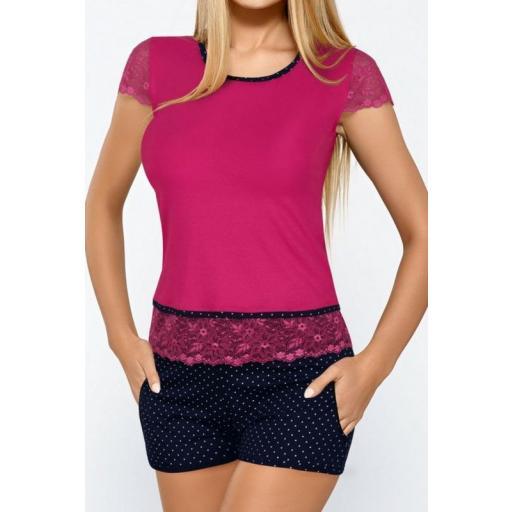 Pijama corto bicolor moda [1]