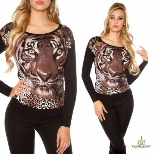 Pullover de moda animal print  [2]