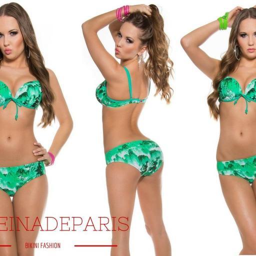 Push-up bikini estampado Sycille verde [3]