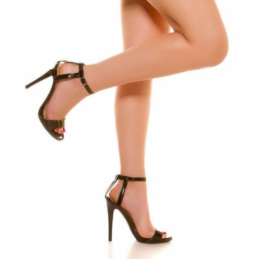 Sandalias negras tacón de 13 cm [3]