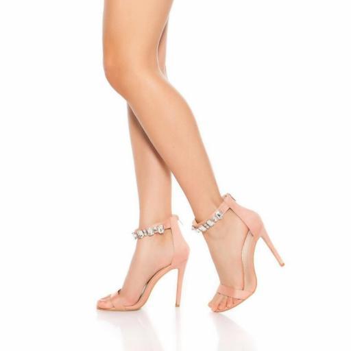 Sandalias tacones altos sexy rosa [2]
