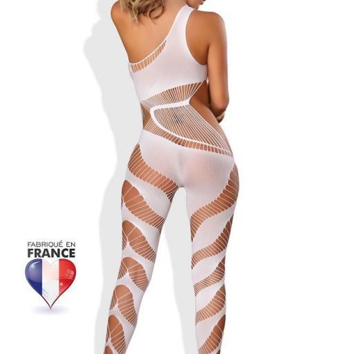 Sexy lencería bodystocking blanco [1]