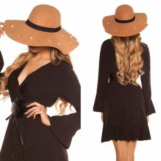 Sombrero estilo boho caramelo [3]