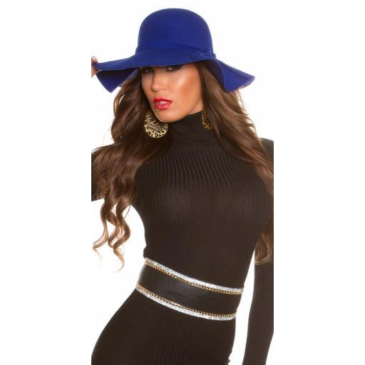 Sombrero boho azul