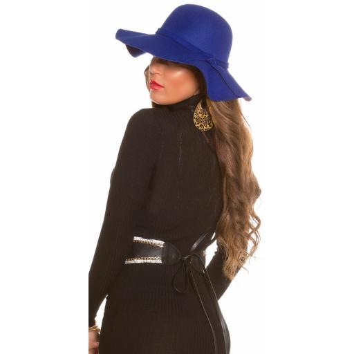 Sombrero boho azul [2]