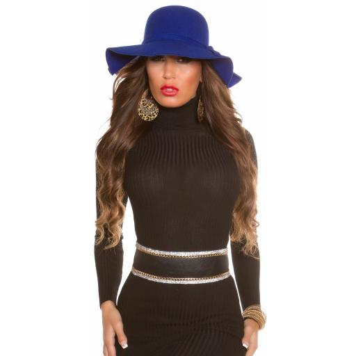Sombrero boho azul [3]