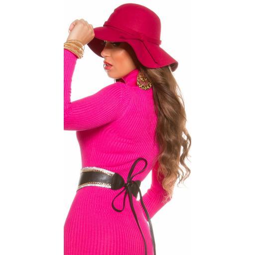 Sombrero boho fucsia [2]