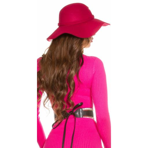 Sombrero boho fucsia [1]
