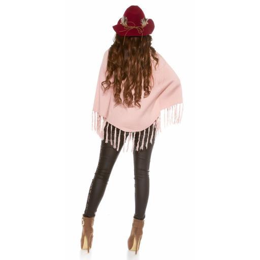 Sombrero con plumas burdeos [2]