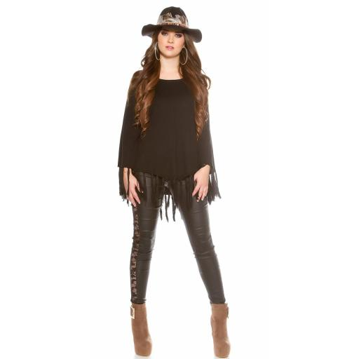 Sombrero con plumas negro [3]