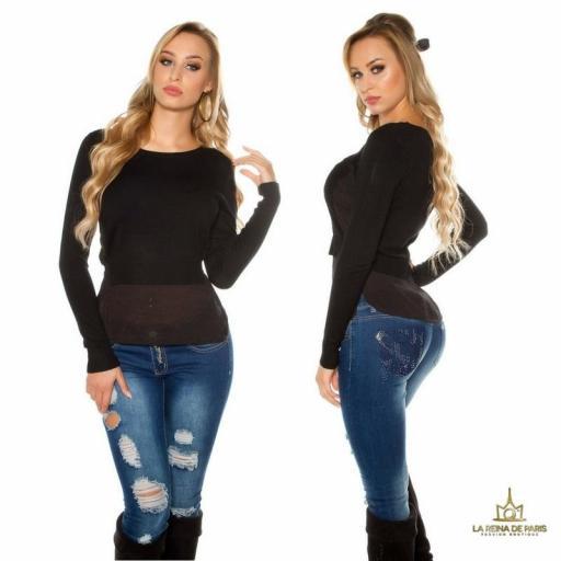 suéter 2 en 1 bicolor  [1]